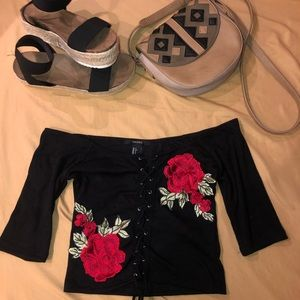 Amazing Forever 21 Floral mini shirt!